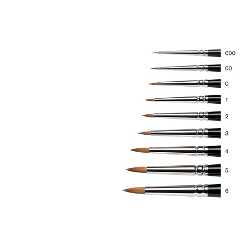 Winsor & Newton Series 7 Kolinsky Sable Round Short Handle Minature Brushes