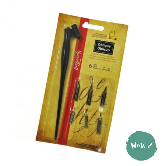 Speedball Dip Pen Calligraphy Pen Set- Oblique nibs
