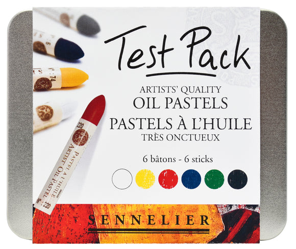 Sennelier Artists Oil Pastels Test Pack Tin 6 Assorted