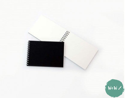 A6 Spiral bound soft back pad 30 sheets 140gsm all media white cartridge