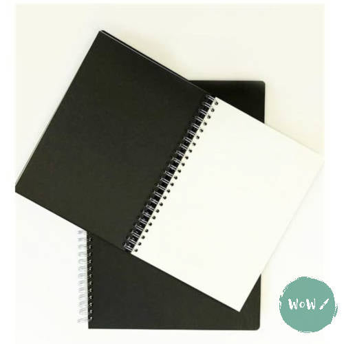 Seawhite Hardback Spiral Bound sketch books 140gsm Alternate Black & White Paper, A3 Portrait