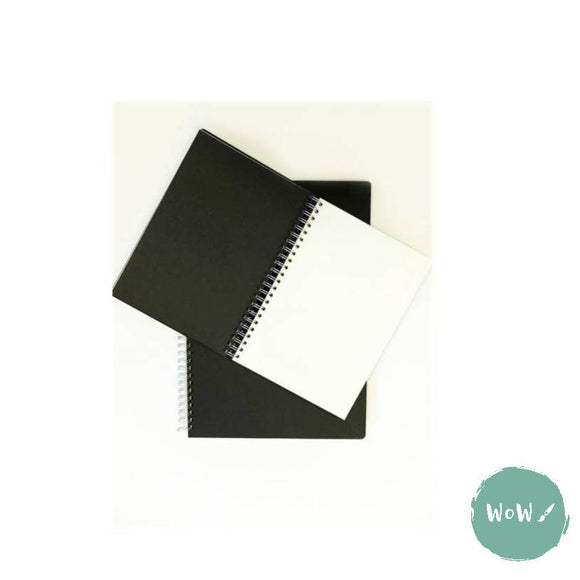 Seawhite Hardback Spiral Bound sketch books 140gsm Alternate Black & White Paper, A4 Portrait