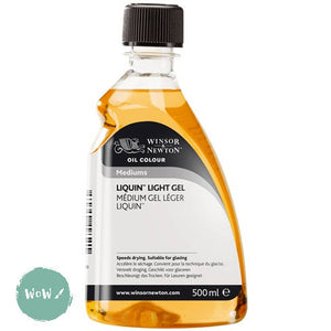 Winsor & Newton Oils- Solvents & Mediums-LIQUIN LIGHT GEL 500ml