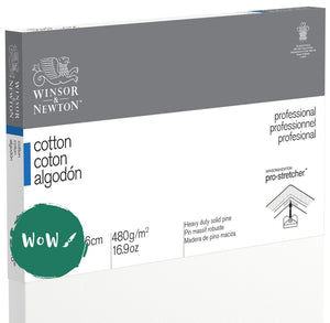 "Winsor & Newton	Professional Canvas  	Cotton Traditional 	12""x16""/ 30.5 x 40.6 cm	Pack of 	5"