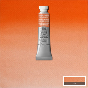 Winsor & Newton Professional (Artists) Watercolour 5ml Tube Winsor Orange Red