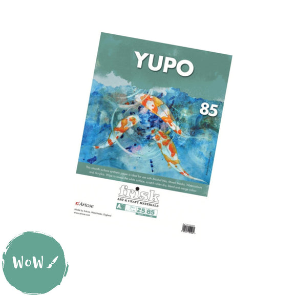 Yupo Synthetic Paper, 85gsm-  A4  Pack of 25 loose sheets