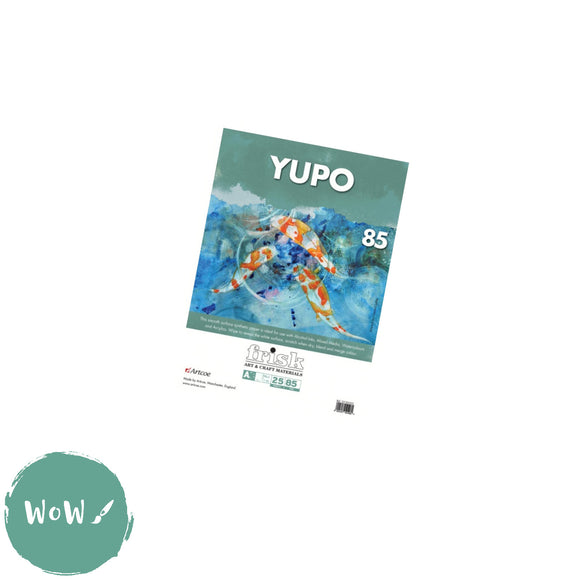 Yupo Synthetic Paper, 85gsm-  A5 Pad of 25 sheets