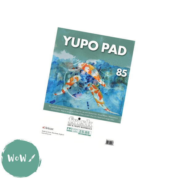 Yupo Synthetic Paper, 85gsm-  A4 Pad (25 sheets)