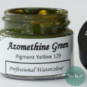 A J Ludlow Professional Watercolour 15ml Glass Jar- Azomethine Green
