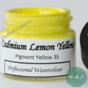 A J Ludlow Professional Watercolour 15ml Glass Jar- Cadmium Lemon Yellow