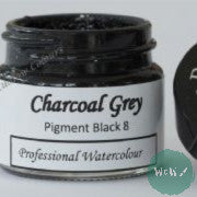 A J Ludlow Professional Watercolour 15ml Glass Jar- Charcoal Grey
