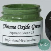 A J Ludlow Professional Watercolour 15ml Glass Jar- Chrome Oxide Green