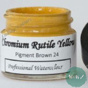 A J Ludlow Professional Watercolour 15ml Glass Jar- Chromium Rutile Yellow