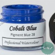 A J Ludlow Professional Watercolour 15ml Glass Jar- Cobalt Blue