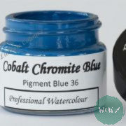 A J Ludlow Professional Watercolour 15ml Glass Jar- Cobalt Chromite Blue