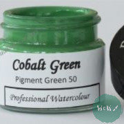 A J Ludlow Professional Watercolour 15ml Glass Jar- Cobalt Green