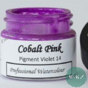 A J Ludlow Professional Watercolour 15ml Glass Jar- Cobalt Pink