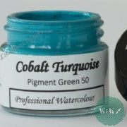 A J Ludlow Professional Watercolour 15ml Glass Jar- Cobalt Turquoise