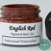 A J Ludlow Professional Watercolour 15ml Glass Jar- English Red