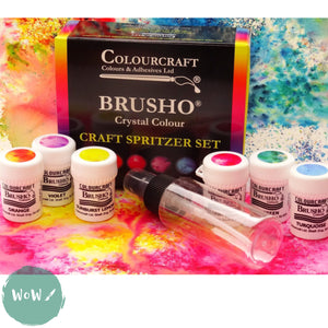 Brusho Fixed Assortment Craft Spritzer Set of 6
