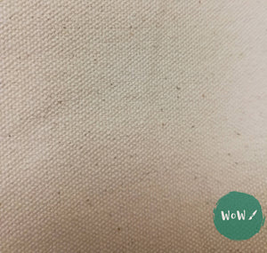 "Unprimed Cotton Canvas Heavy 12oz Width: 183cm (72"") per metre"