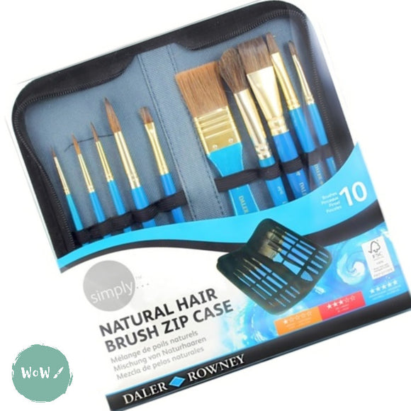 Daler Rowney Simply Natural Hair Watercolour Brush Zip Case