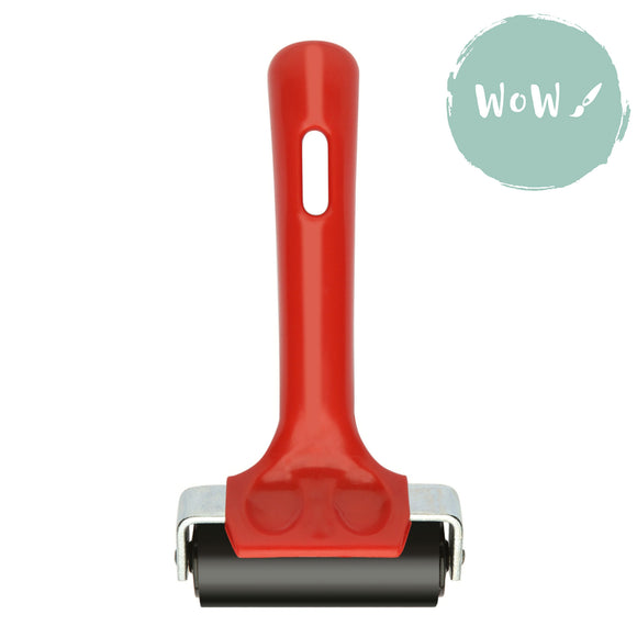 ESSDEE Red Handle Ink Roller / Brayer 65mm wide