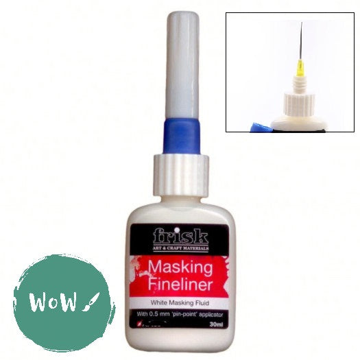 Frisk Artists Masking Fluid Fineliner  30ml- White