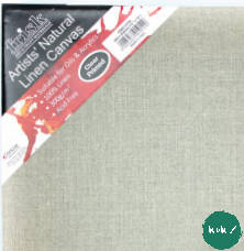 Frisk Stretched 380g Natural Linen Canvas, Chunky depth Medium Grain- Pack of 2