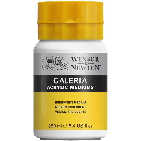 Winsor & Newton Galeria Acrylic Mediums- Iridescent Medium, 250 & 500ml