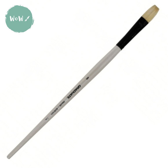 Daler Rowney Graduate Brush Bristle-  FLAT 8 Long handle