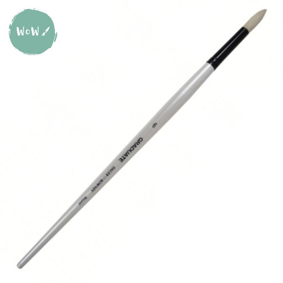 Daler Rowney Graduate Brush Bristle-  ROUND 6 Long handle