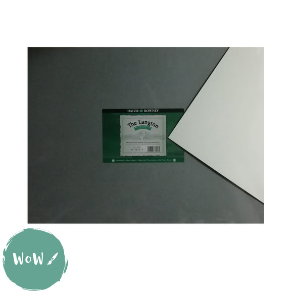 Daler Rowney Langton Watercolour Board NOT Surface 2mm thick- 16 x 12