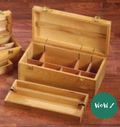 Artists Wooden Storage Box- LARGE- HOWDEN