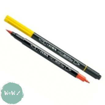 LYRA AQUA BRUSH DUO Water-based Twin tip pens- Singles