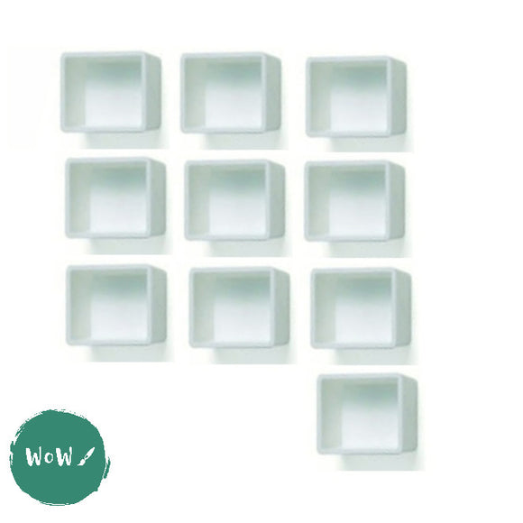 Empty plastic Half Pans pack of 10