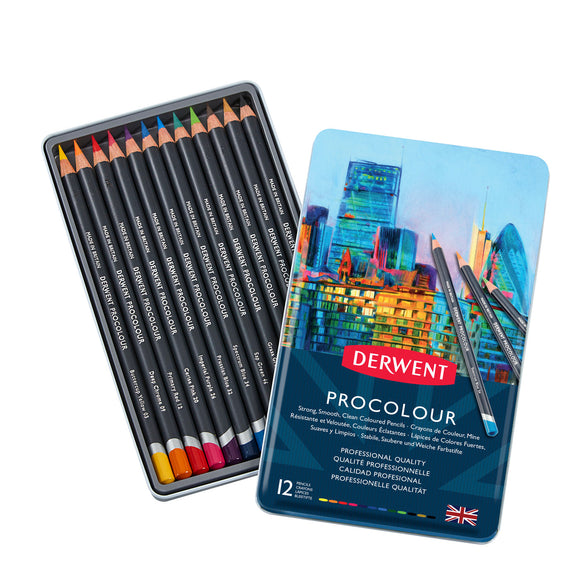 Derwent Procolour Pencils Tin12