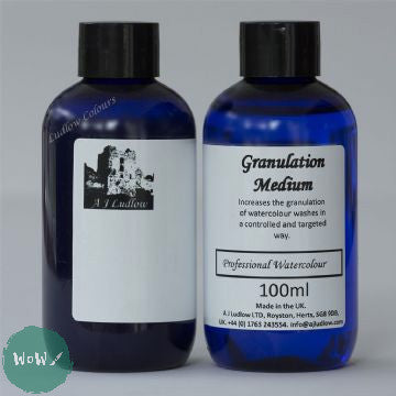 AJ Ludlow Watercolour Medium- Granulation Medium 100ml blue plastic bottle