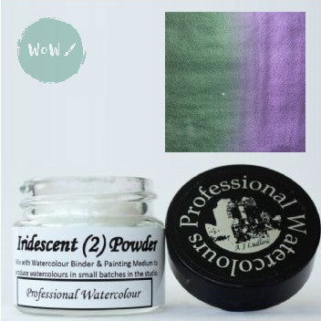 AJ Ludlow Watercolour Medium- Iridescent powder- 4g Jar-  No. 2 - Green to Violet