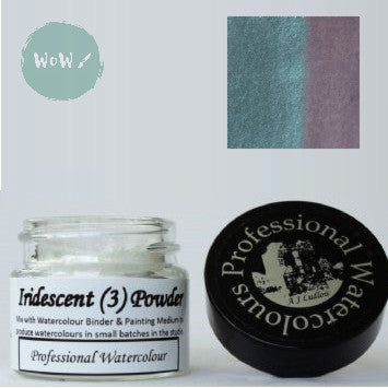 AJ Ludlow Watercolour Medium- Iridescent powder- 4g Jar-  No. 3 - Light Blue to Pink
