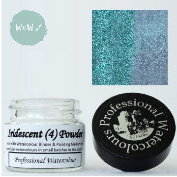 AJ Ludlow Watercolour Medium- Iridescent powder- 4g Jar-  No. 4 - Blue to Silver