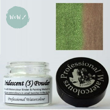 AJ Ludlow Watercolour Medium- Iridescent powder- 4g Jar-  No. 5 - Green to Orange