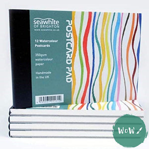 Seawhite 'Postcard' NOT Surface Watercolour Paper Pad, A6, 350gsm, 12 sheets