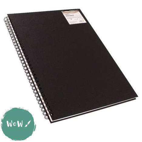 Seawhite Hardback Spiral Bound sketch books 160gsm All-Media Cartridge Paper, A3 Portrait