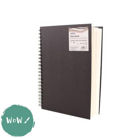 Seawhite Hardback Spiral Bound sketch book 150gsm all media WHITE paper, A4