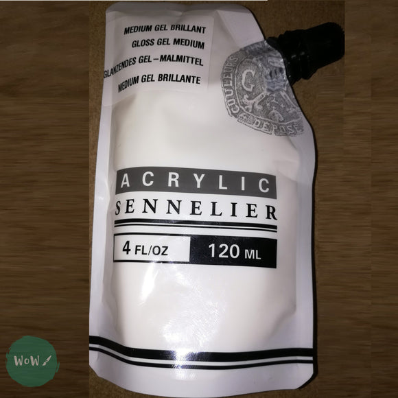Sennelier Acrylic Mediums 120ml pouch- GLOSS GEL MEDIUM