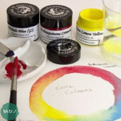 AJ Ludlow Professional Watercolour Gift Sets- 15ml Glass Jars- 3 Cool Primary Colours