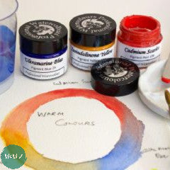 AJ Ludlow Professional Watercolour Gift Sets- 15ml Glass Jars- 3 Warm Primary Colours