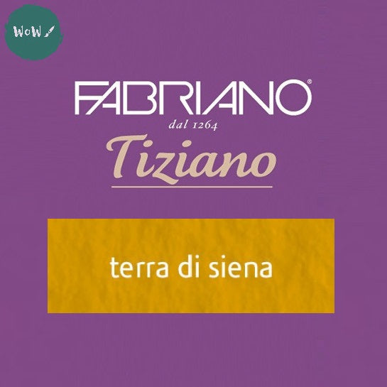 Tiziano sheets 50 x 65cm- 160gsm- Colour: Terra di Sienna PACK OF 10