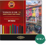 Kohi-noor Toison d'or square soft pastel set of 24